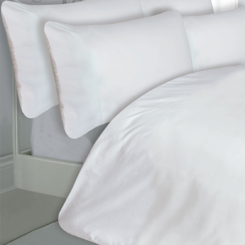 WHITE COLOUR 200 THREAD COUNT LUXURY QUALITY EGYPTIAN COTTON BEDDING DUVET SET